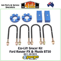 Easy-Lift Spacer Kit Ford Ranger PX & Mazda BT50 2011-05/2015