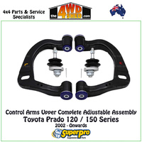 Control Arm Upper Complete Adjustable Assembly - Toyota Prado 120 / 150 Series