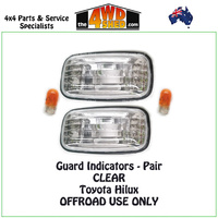 Toyota Hilux Guard Indicator - CLEAR PAIR