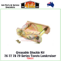 Greasable Shackle Kit 76 77 78 79 Series Toyota Landcruiser