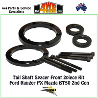 Tail Shaft Spacer Front 2 Piece Kit 25mm Ford Ranger PX Mazda BT50 2nd Gen