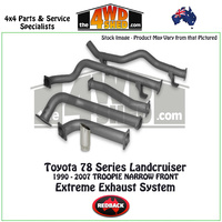 Toyota Landcruiser 78 Series Troop Carrier 1990 - 2007 Redback Exhaust System