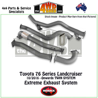 Toyota Landcruiser 76 Series Wagon Twin System 10/2016 - Onwards Redback Exhaust System