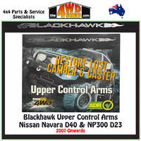 Blackhawk Upper Control Arms Nissan Navara D40 D23 NP300 2007-On