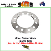 Wheel Spacer - 6mm