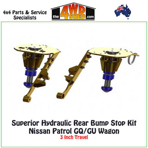Superior Hydraulic Rear Bump Stop Kit Nissan Patrol GQ GU - Wagon
