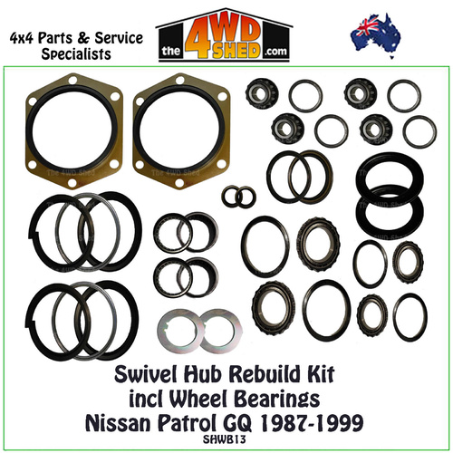 Swivel Hub & Wheel Bearing Rebuild Kit Nissan GQ 1987-1999